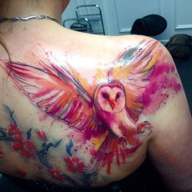 4425dfcac9077 ... Tattoo artist Adam Kremer watercolor tattoo | Акварельная татуировка  тату-мастера Adam Kremer ...