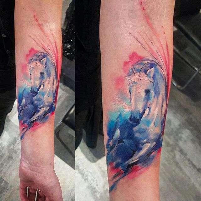4ab95b48b8466 Tattoo artist Adam Kremer watercolor tattoo | Акварельная татуировка  тату-мастера Adam Kremer ...