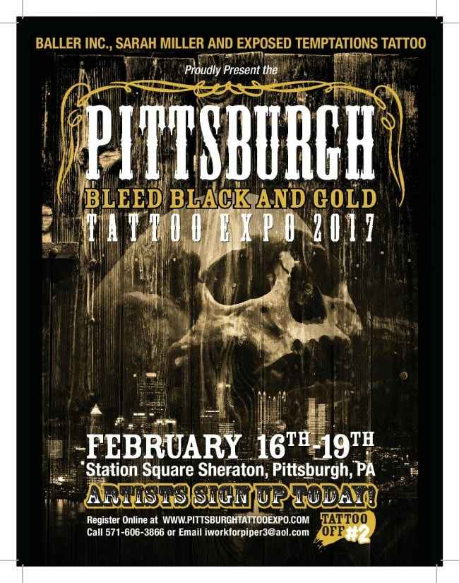 Pittsburgh bleed back and gold tattoo expo for Pittsburgh tattoo convention